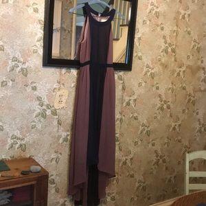Dress by ModCloth. Mauve, navy, Excellent cond.